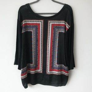 Mango Oversized Blouse With Scarf Detail Front